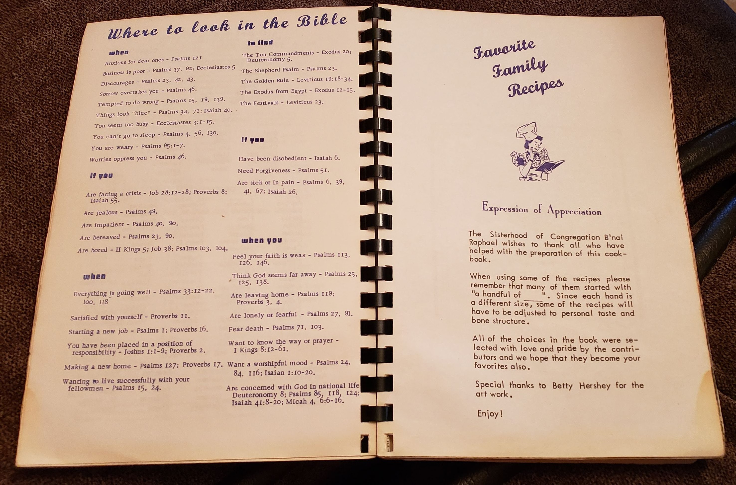 sisterhood recipe book